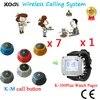 Sistema de Monitoreo de llamadas de servicio inalámbrico Ycall para el camarero de busca de invitados usado para restaurante de comida rápida (1 reloj + 7 botones de llamada)