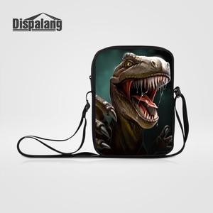 Dispalang Women's Men's Small Messenger Bags Animals Dinosaur Print Shoulder Bag Kids Crossbody Bag for Children Travel Handbag