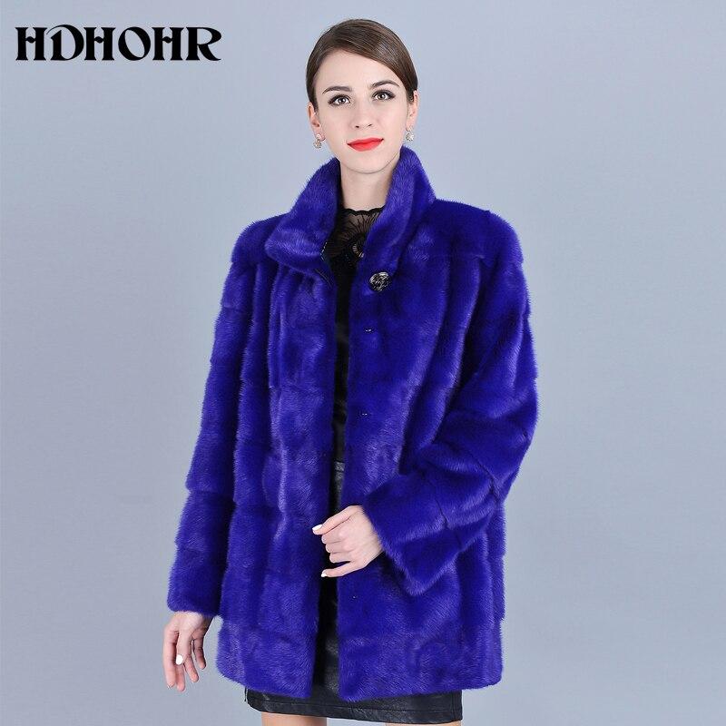 HDHOHR 2021 جديد فرو منك الطبيعي معاطف النساء الدافئة الفراء الحقيقي سترات سميكة الشتاء نوعية جيدة المنك الحقيقي سترات الإناث