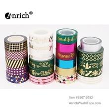 Livraison gratuite et Coupon washi tape,Anrich washi tape #9207-9282, design noir, toutes sortes de styles de couleur unie, belle