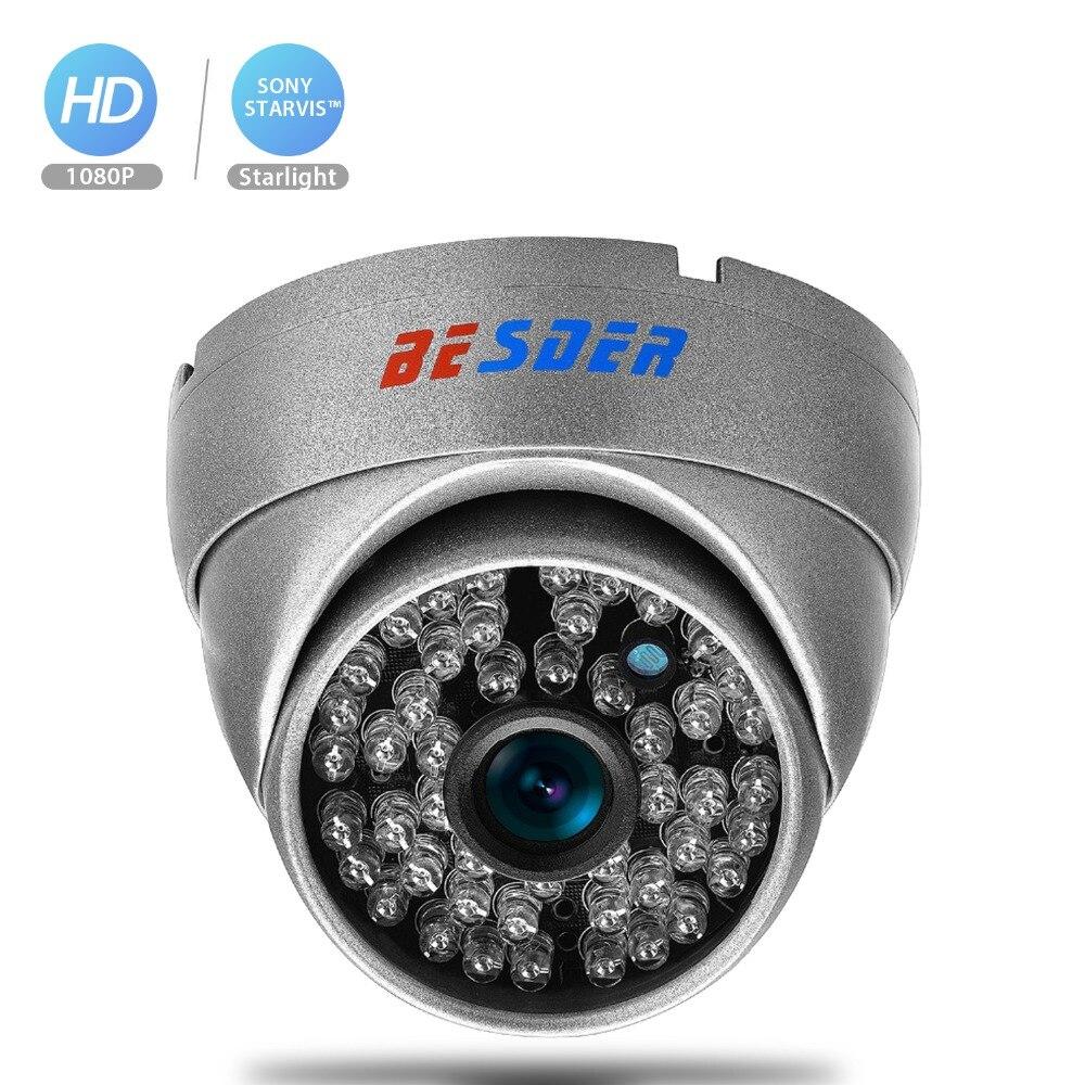 Cámara IP BESDER 1080P SONY STARVIS visión nocturna H.265 carcasa metálica CCTV cámara de seguridad para el hogar 2MP IMX 307 Cámara ONVIF 2,0 XMEye