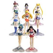 Anime Sailor Moon Venus Júpiter mercurio Marte Saturno Neptuno Urano de acción   PVC figuras de acción juguetes de modelos coleccionables 8 estilos