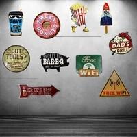 Panneaux de biere en etain en metal doux Donuts  panneaux irreguliers  panneau publicitaire  decor mural de Bar  Pub  cafe  Art de la maison  Restaurant