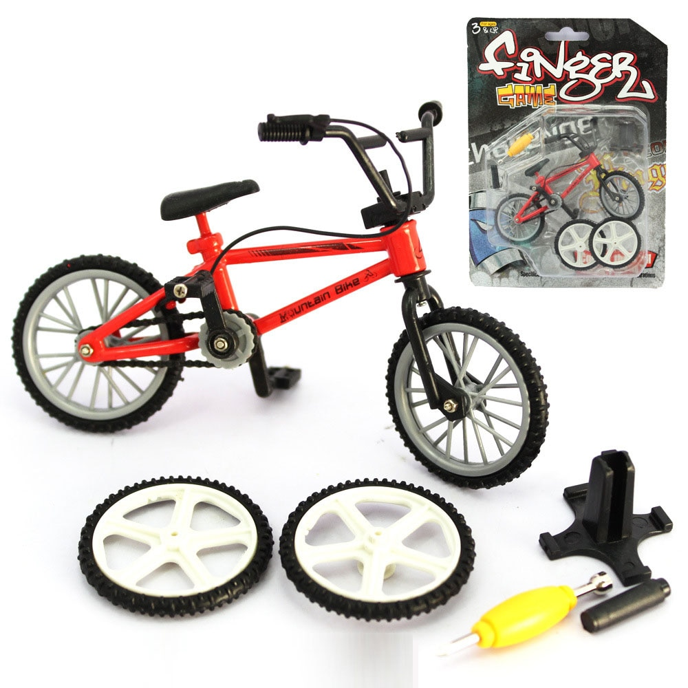 NEW Alloy mini BMX Finger Mountain BikesToys Retail Packaging mini-finger-bmx Bicycle Creative Game Gift for children toys