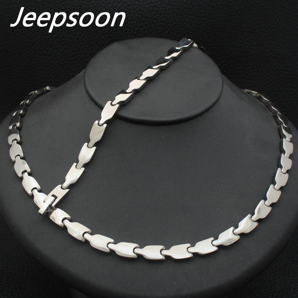 Conjunto de collar y pulsera de cadena de acero inoxidable de joyería de moda para mujer SFKGBPDI