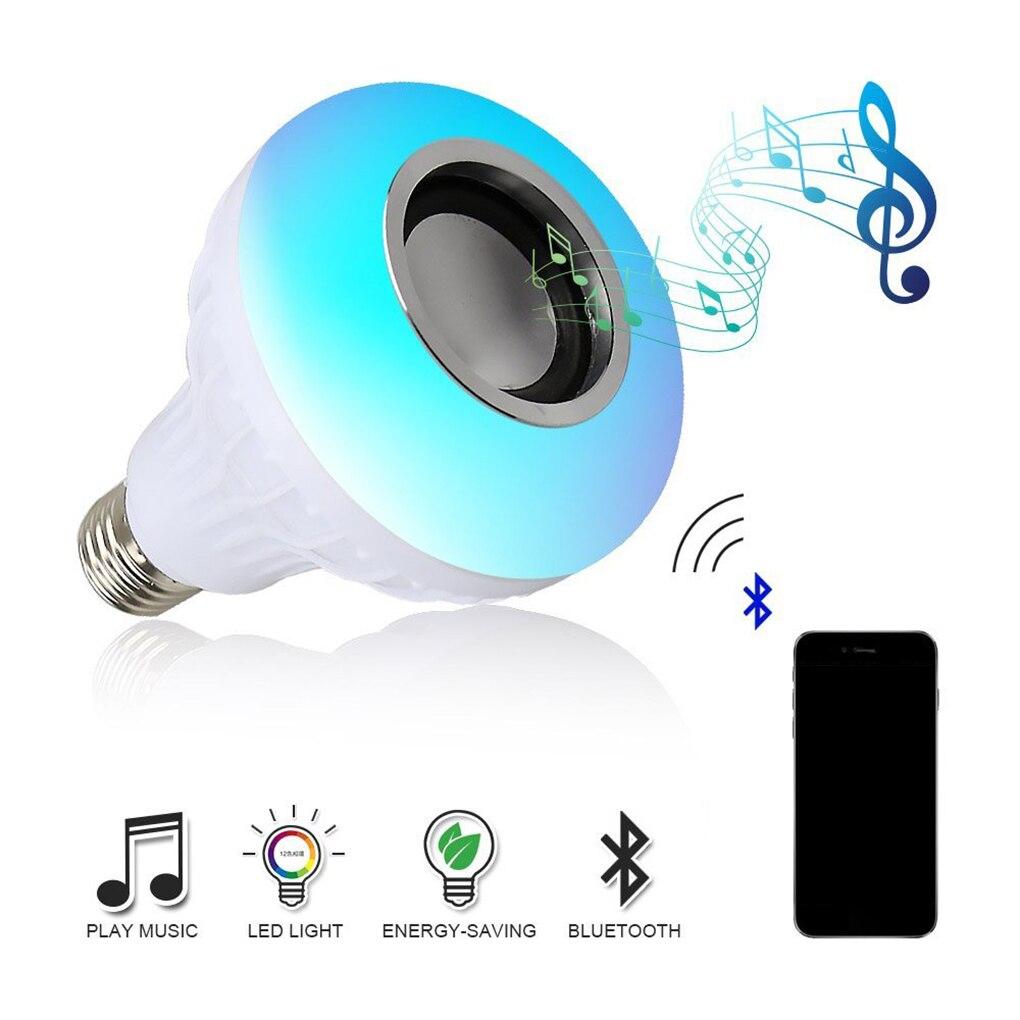 Nouveau E27 Bluetooth musique Led ampoule colorée Led étape intelligente ampoule télécommande musique WiFi ampoule bal fête famille KTV