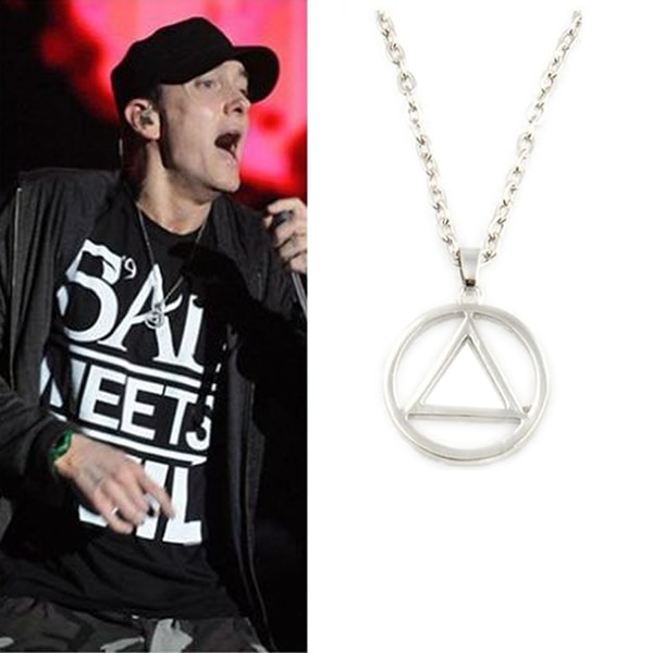 1 unidad música caliente el mejor rapero Eminem Grammy titanio acero cadena Rock Pop collar envío