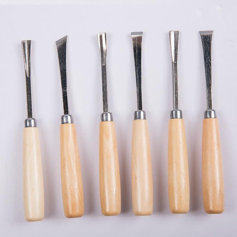 Набор деревянных зубьев, 6 шт., нож для резьбы по дереву долото для дерева, инструмент для резьбы по дереву