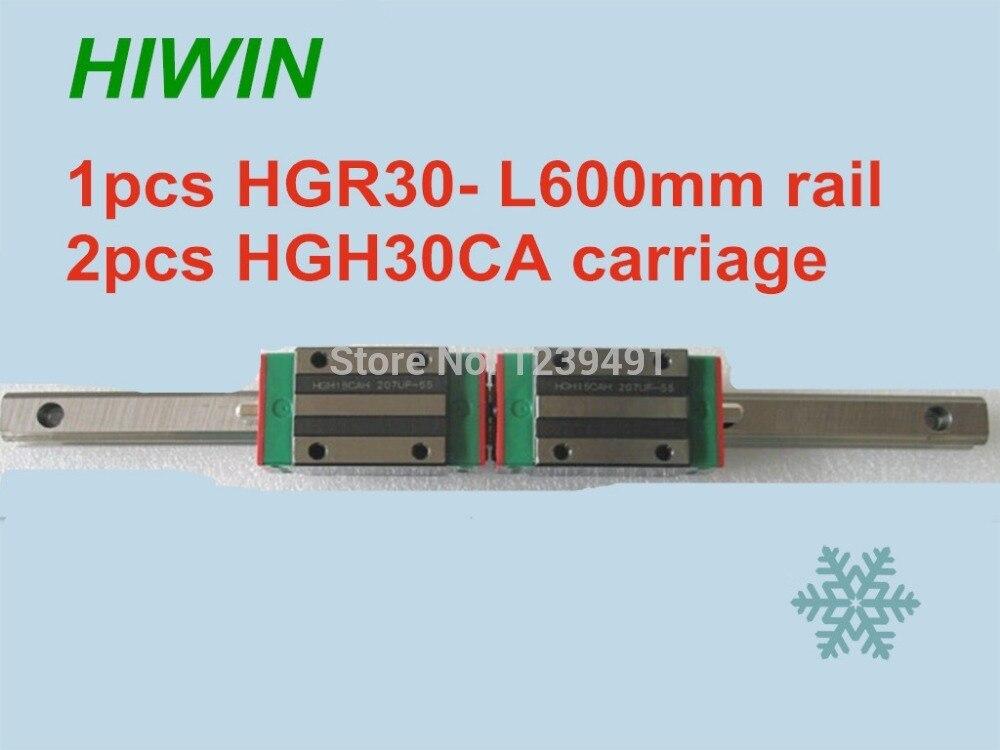 1 قطعة أداة توجيه طولية من هايون HGR30 -L600mm مع 2 قطعة الخطي النقل HGH30CA CNC أجزاء