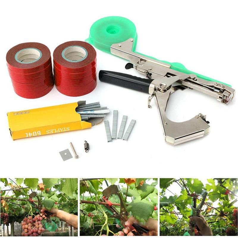 Mașină de legat plante de grădină pachet de plante tapener cu 12 rulouri de bandă, folosită pentru legume, struguri, roșii, castraveți