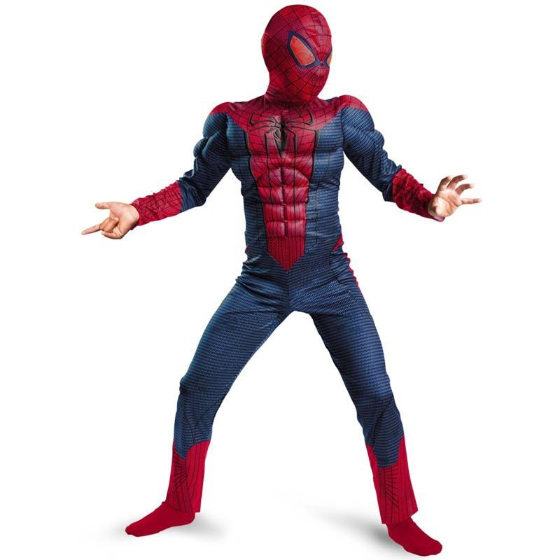 Spiderman Movie Classic Muscle Child halloween costume for kids disfraces infantiles superheroes fancy dress