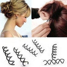 Vis à rotation spirale pour femme noir   Nouveaux accessoires de cheveux, épingle à cheveux, Barrette torsadée pour cheveux