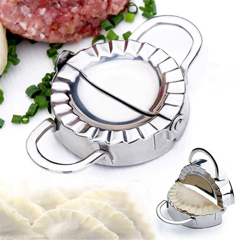 Ручная ручная Клецка из нержавеющей стали, форма для пиероги, машина для изготовления пельменей jiaozi, diy инструменты, устройства для кухни