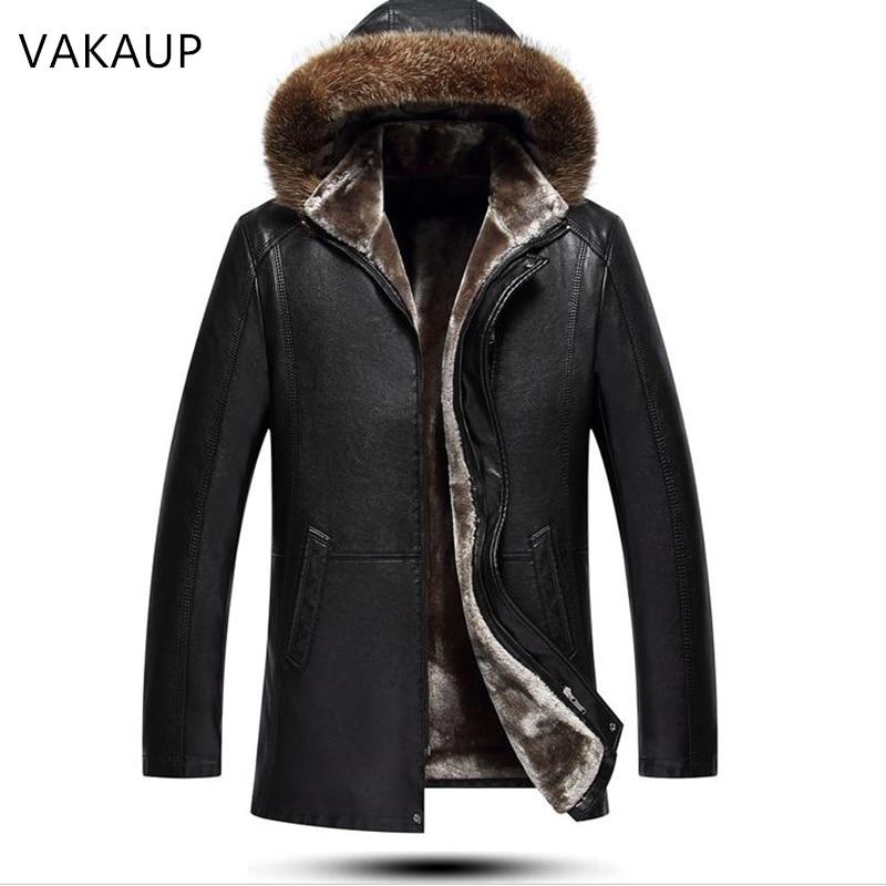 Зимняя мужская одежда из овчины 2020, шерстяная удлиненная меховая шапка, удобное плюшевое толстое пальто, Теплые Куртки из натуральной кожи ...