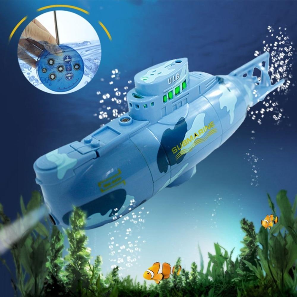 Mini submarino 3314 Radio Control submarino de carreras barco Universal Rc juguetes para niños portátil niños RC Speedboat modelo