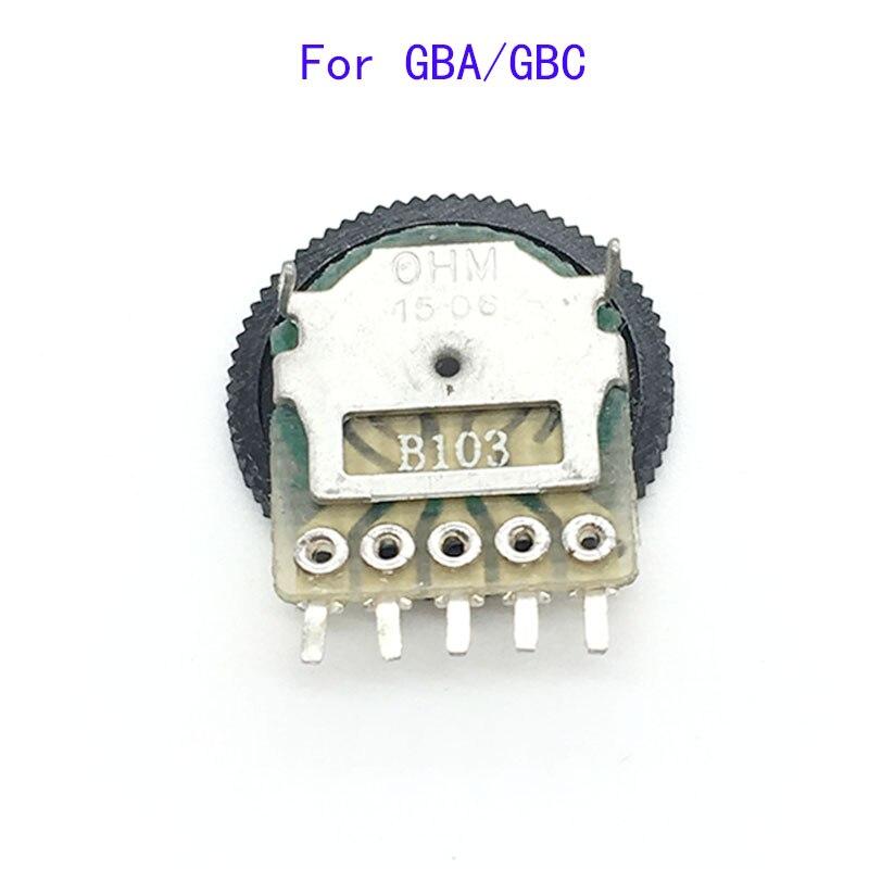 Piezas de reparación de interruptor de volumen 50 Uds para placa base GBA GBC Color Gameboy