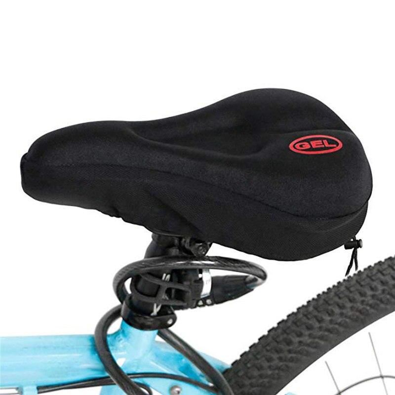 1pc negro de Gel de sílice de alta calidad bicicleta de montaña cubierta de asiento cojín confort de absorción de choque bicicleta cubierta de asiento de engrosamiento Saddle6