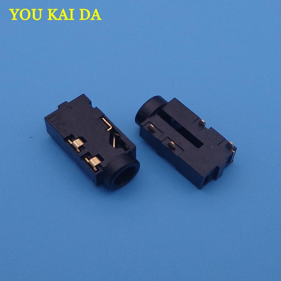 2PCS 3.5 Audio jack Connector For Toshiba C850 L850 C870 L870 C855 L855 L875 C50 MIC Socket Headphone Female Port Free shipping