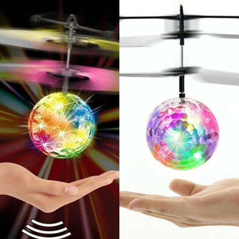 Nueva BOLA MÁGICA eléctrica de vuelo helicóptero cristal LED luz infrarroja Sensor niños juguete helicóptero inducción aviones juguetes regalos