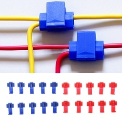 Conectores de cabo elétrico rápido splice terminais de fio de bloqueio crimp 2 pinos t forma scotch lock kit áudio do carro ferramenta