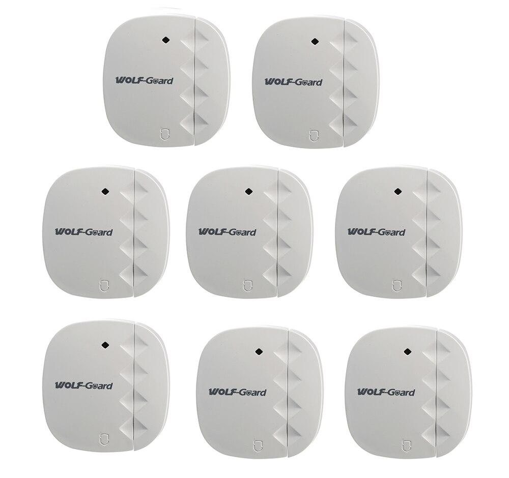 Sensor inalámbrico de 8 x puertas y ventanas con Sensor magnético Detector para seguridad del hogar 3G GSM Panel sensibilidad alarma sistema antirrobo