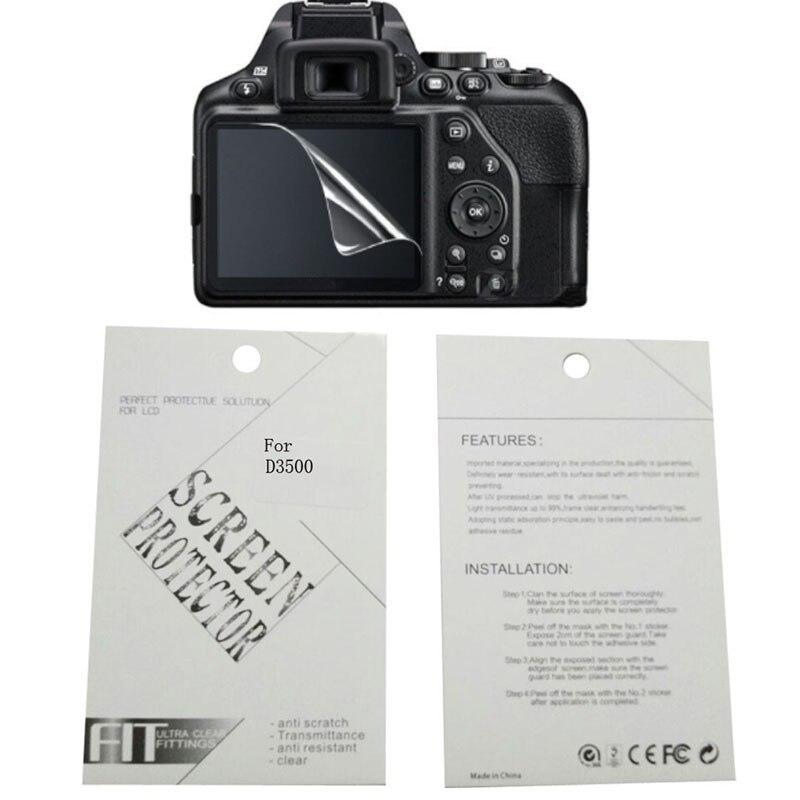 2 piezas de la nueva cámara de pantalla película de protección para Nikon D90 D7000 D3000 D3100 D7500 D3300 D3400 D3500 D5100 D5200 D5300 D7100