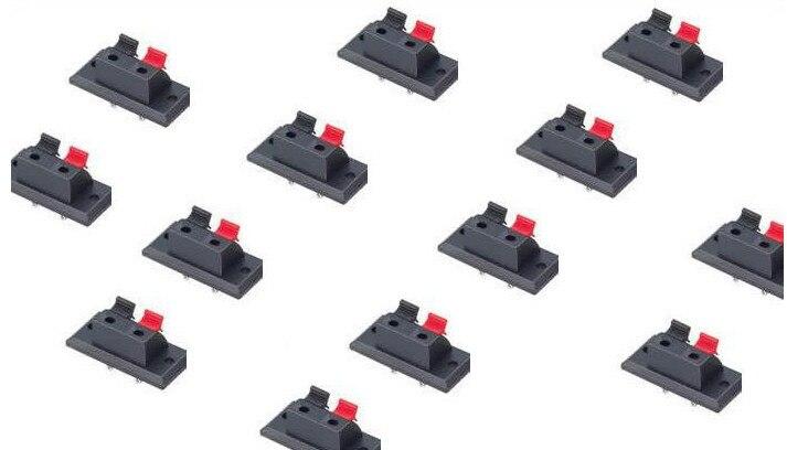 الجملة 400 قطعة 2PIN دفع الأحمر والأسود الربيع دفع نوع كابل مكبر الصوت سلك مكبر الصوت الصوت محطة مجلس موصل-w2-3