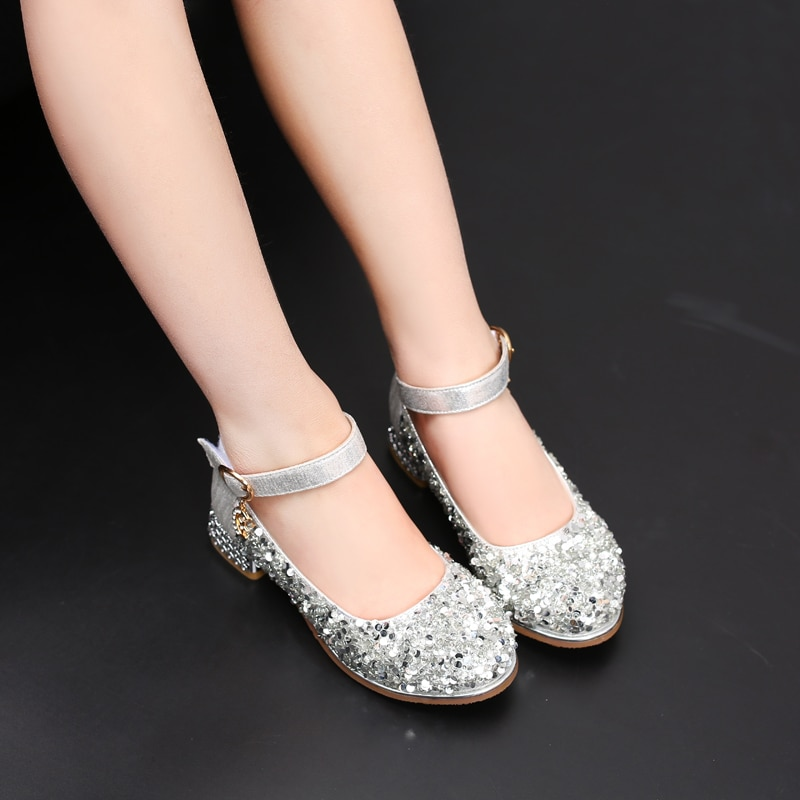 Girls Sandals Children Princess Shoes Beading Glitter Party Dress Shoes For Girls Baby Kids