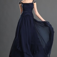 Gorgeous A Line Cap Sleeve Backless Chiffon Mother of the Bride Dress Long Formal Women's Dress