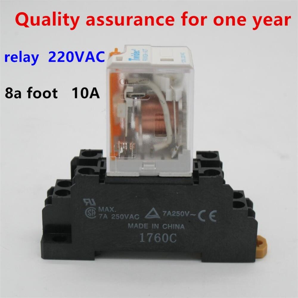 HH52P MY2NJ 220 V AC Relé de Potência da bobina de alta qualidade geral finalidade DPDT micro mini relé eletromagnético relé + Soquete Base de dados