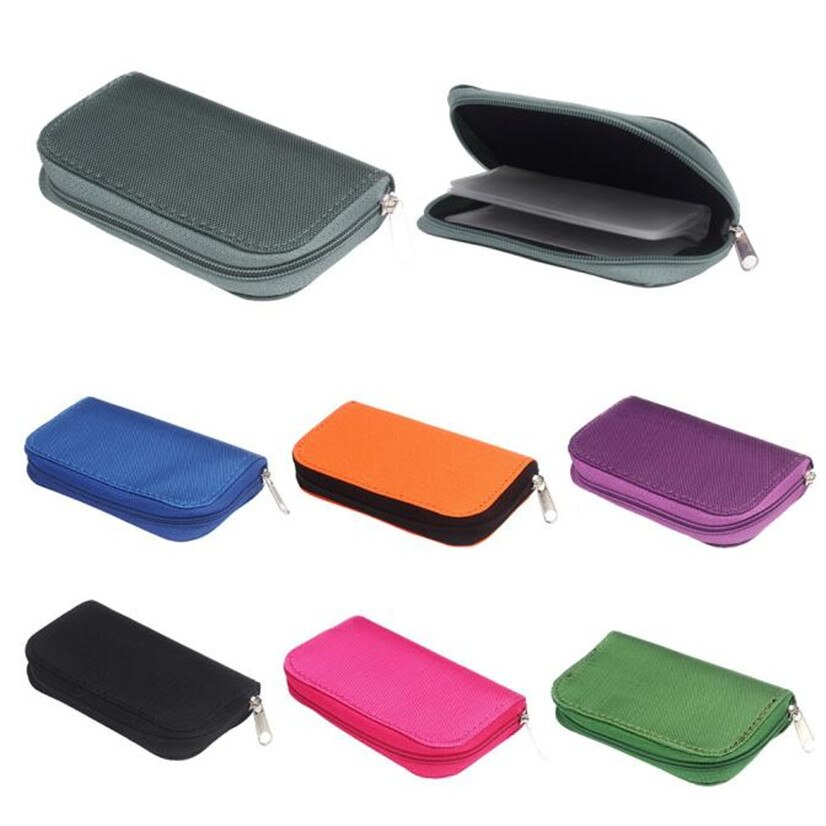 Precio de fábrica nueva tarjeta de memoria almacenamiento bolso funda cartera titular SD Micro Mini 22 ranuras Cámara Teléfono de buena calidad