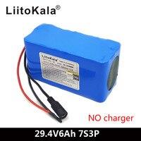 LiitoKala 24V 6Ah 7S3P 18650 Battery 29.4 v 6000mAh BMS Electric Bicycle Moped /Electric/Li ion Battery Pack