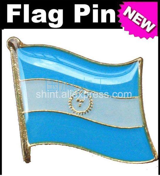Pins de lapela Bandeira Argentina Pinos Todo O Mundo Emblema Emblema País Estado Pinos