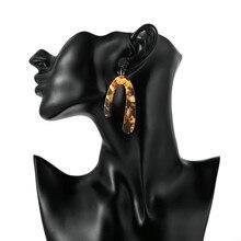Moda kobiety kolczyki 2020 proste akrylowe długie zwisające kolczyki Dangle dla kobiet akcesoria Trendy biżuteria kolczyki boucle d'oreille