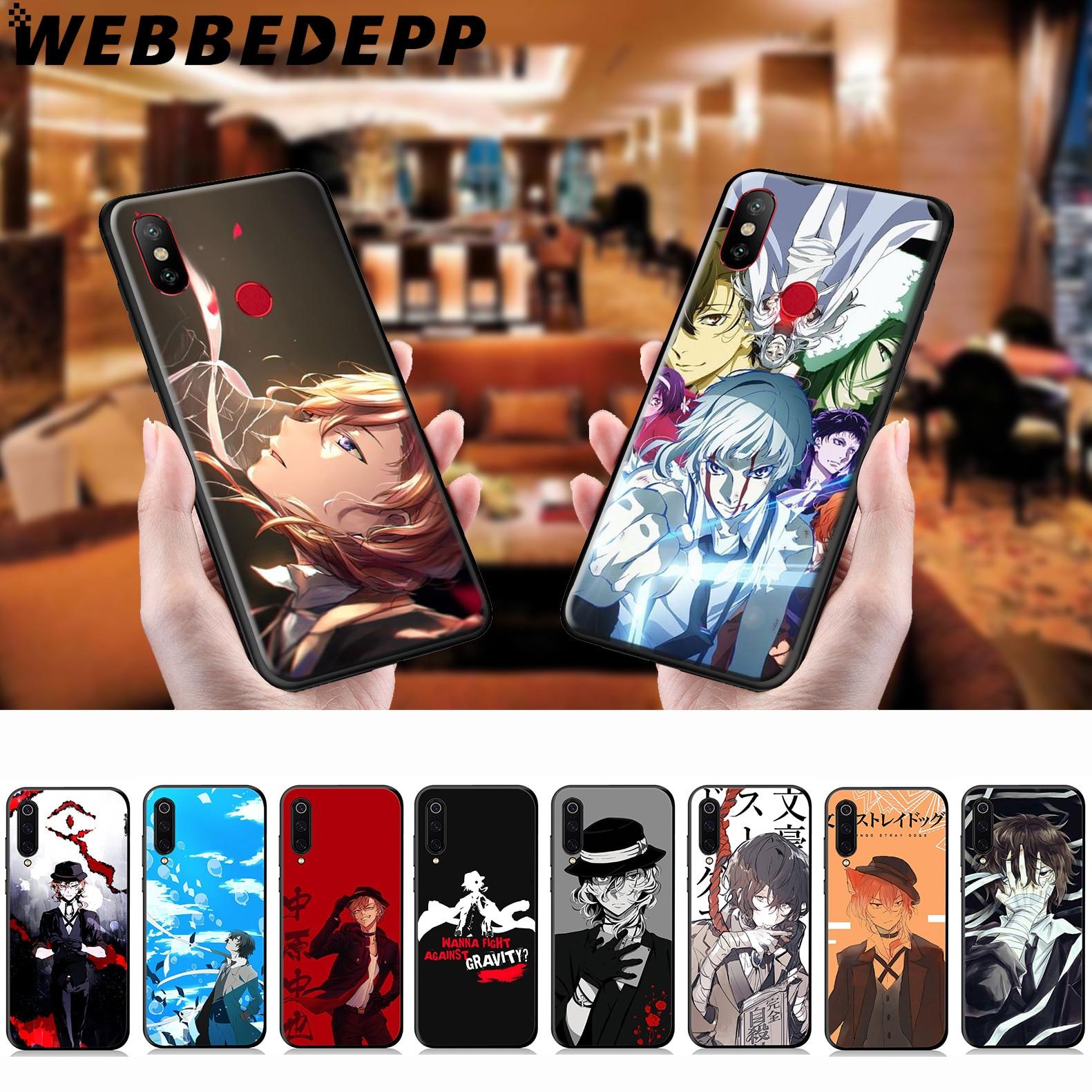 WEBBEDEPP Bungo Stray Dogs, funda suave de Anime para Xiaomi Mi 9T 9 8 SE 6 A1 A2 A3 Lite MiA1 MiA2 MiA3 Mi F1 MAX 3 Mi8 CC9E CC9