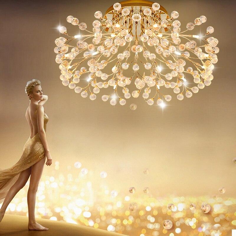 Lámpara de techo LED estilo americano ZYY diseño redondo oro plata dos colores para elegir ventilador para araña de restaurante sala de estar