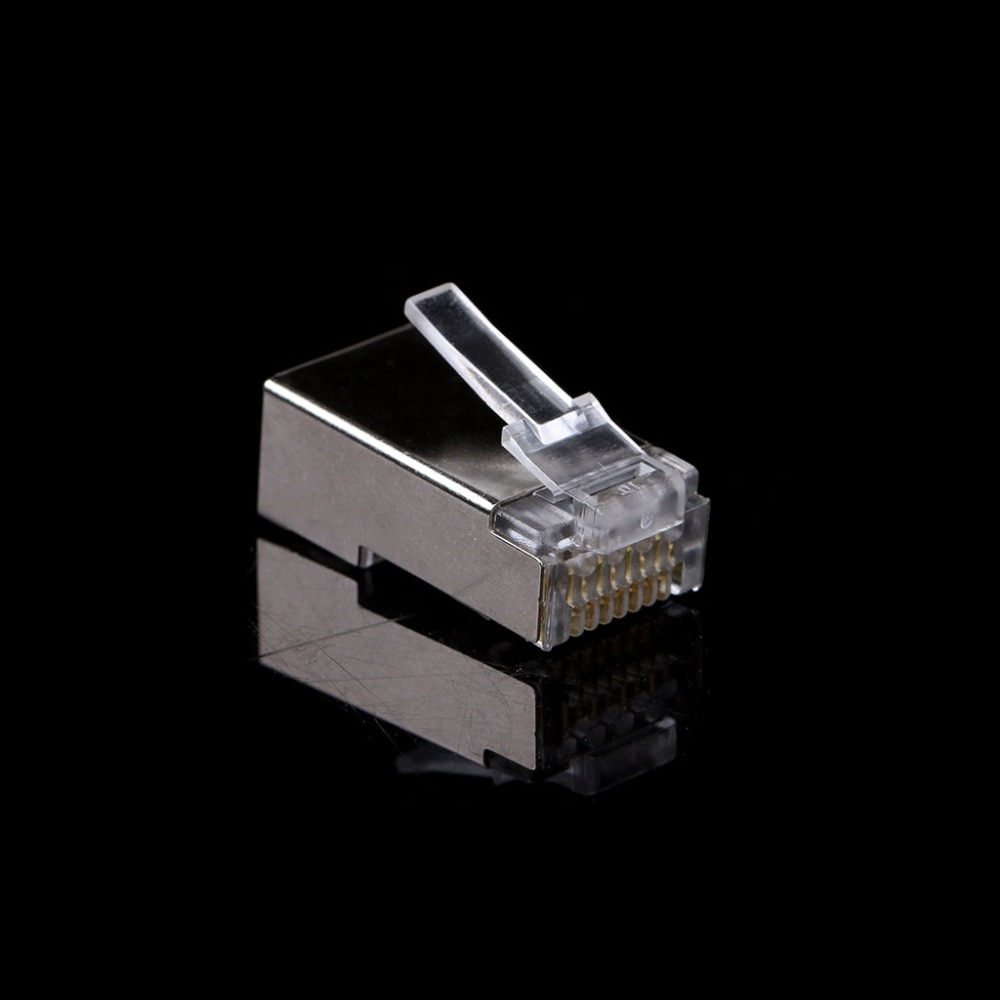 10 unids/set RJ45 conector de red CAT6 versión Modular de enchufes blindados con barra de carga conectores nuevo C26