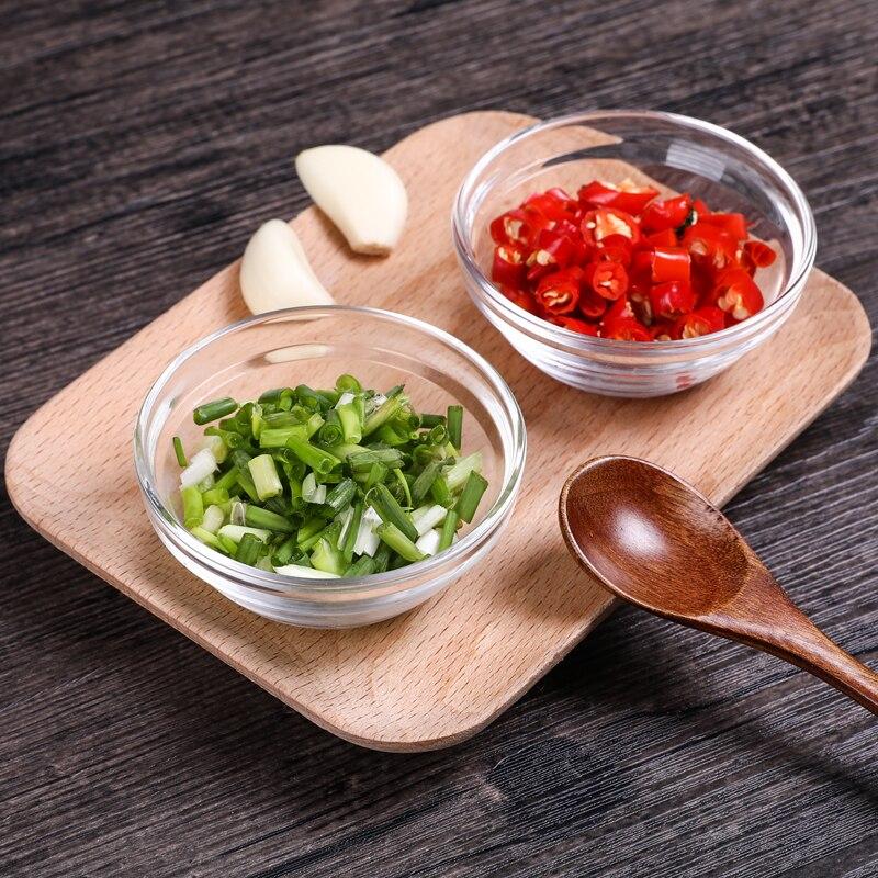 1 шт., Бытовая Посуда, стеклянная тарелка для соуса, креативная прозрачная тарелка для закусок, кухонная посуда