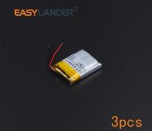 3 Stks/partij 3.7V 280 Mah Oplaadbare Li-Polymer Li-Ion Batterij Voor Bluetooth Headset Armband Polshorloge Pen Gps mp4 MP3 552025