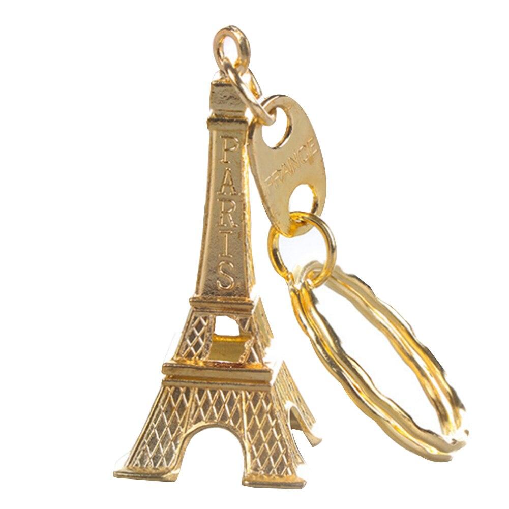 LLavero de Torre Eiffel souvenir para llave torre de París Retro clásico Decoración Para llavero soporte mejor regalo 4 colores