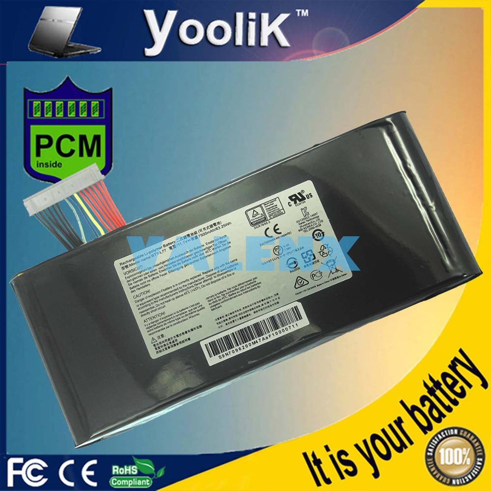 11.1V 83.25Wh BTY-L77 Laptop Battery for MSI GT72 2QD GT72S 6QF Series 2PE-022CN 2QD-1019XCN 6QD-840XCN 6QF-054CN 6QE-209CN