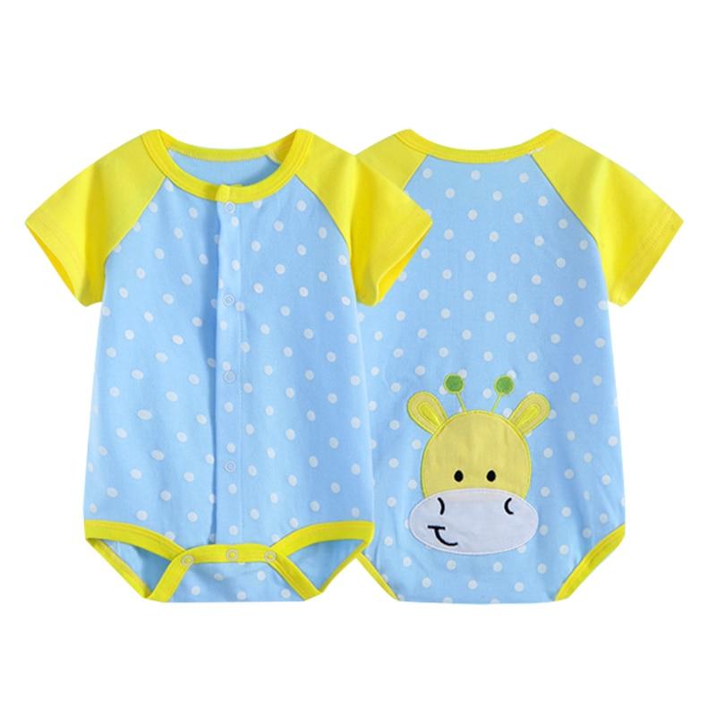 Monos de bebé 2016 Algodón puro, ropa de cuerpo para bebé de manga corta y cuello redondo, mono Similar a lunares, ropa de escalada para recién nacidos