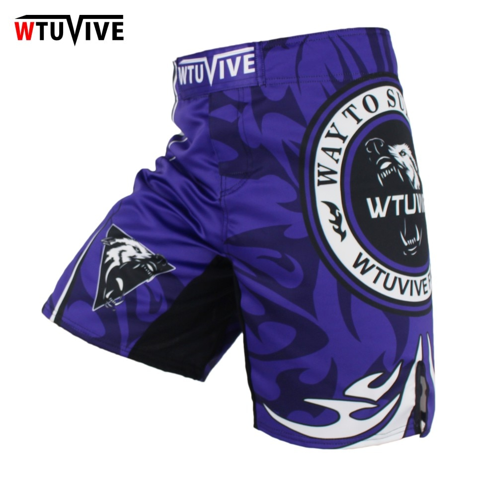 WTUVIVE MMA Men Boxing Wolves Shorts Contest Professional Training Trousers cheap mma shorts
