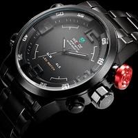 2018 Watches Men Original Brand WEIDE Stainless Steel Digital Watch Sports Wristwatch Led Quartz Military Wrist Watches Relogio