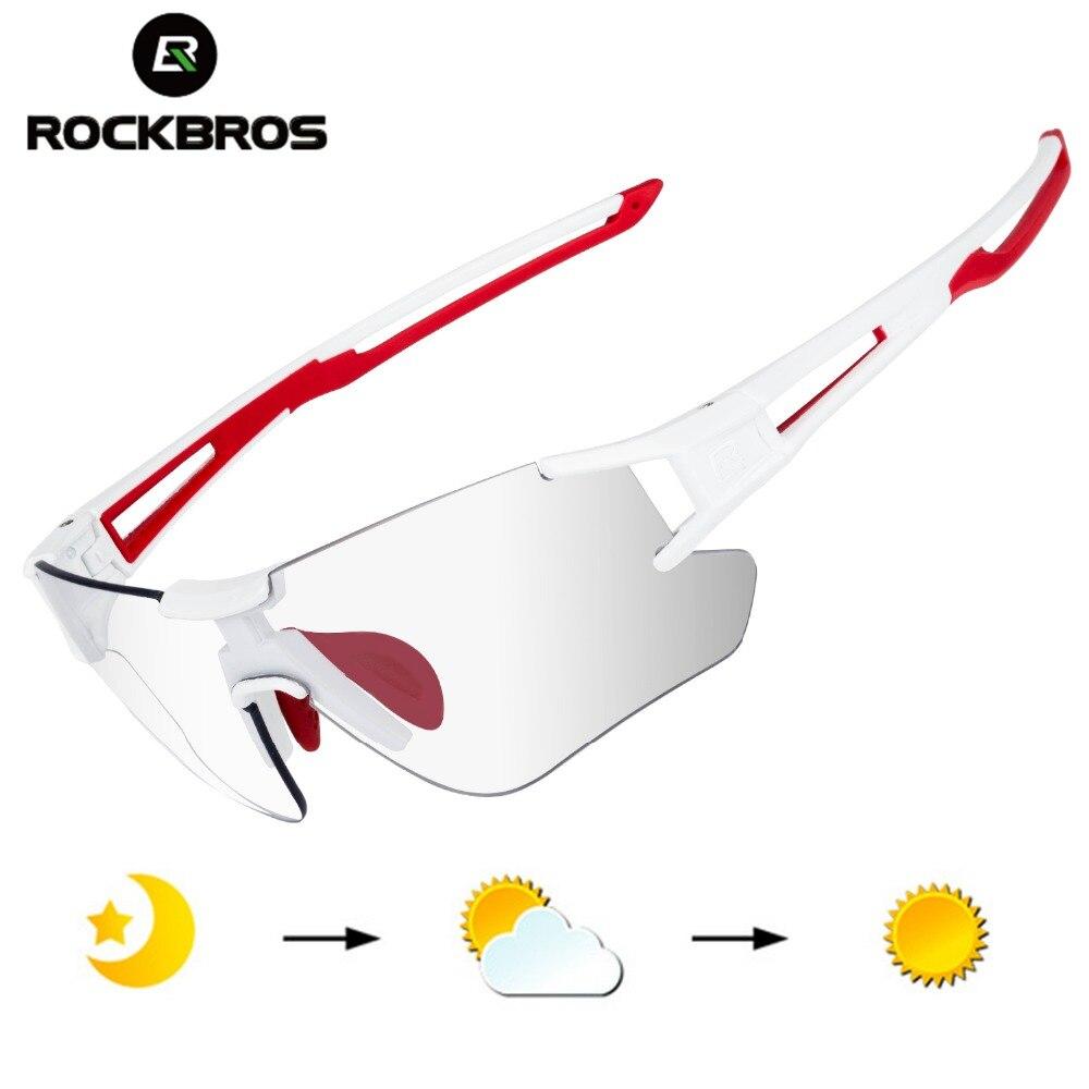 ROCKBROS los envoltura para ciclismo gafas de sol hombres es fotocromáticos gafas deportivas al aire libre UV400 bicicleta al aire libre anteojos gafas deportivos gafas