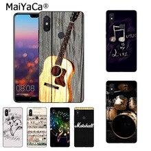 MaiYaCa amateur de musique cadeau batterie cool guitare Note de musique étui de téléphone pour xiaomi mi 8se 6 note2 note3 redmi 5 plus note 4 5 couverture