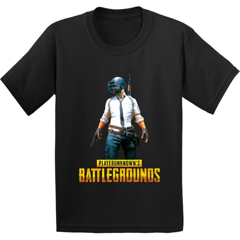 Playerunknowns Battlegrounds PUBG patrón niños algodón camiseta bebé ropa divertida niños/niñas camiseta Casual
