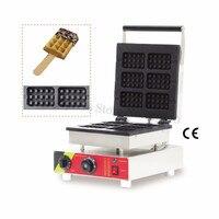 Rectangle Lolly Waffle Maker Non-Stick Rectangular Waffle Machine 110V 220V 6pcs Molds Brand New