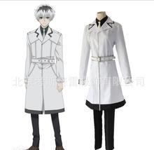 Japanese Anime Tokyo Ghoulre Cosplay Costumes Sasaki Haise Kaneki Ken Cosplay Costumes White Trench Full Set