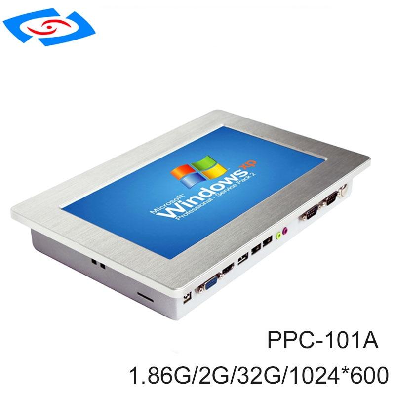 10.1 بوصة تعمل باللمس الصناعية اللوحي IP65 للماء بدون مروحة الكل في واحد PC مع محرك الحالة الصلبة 64Gb SSD
